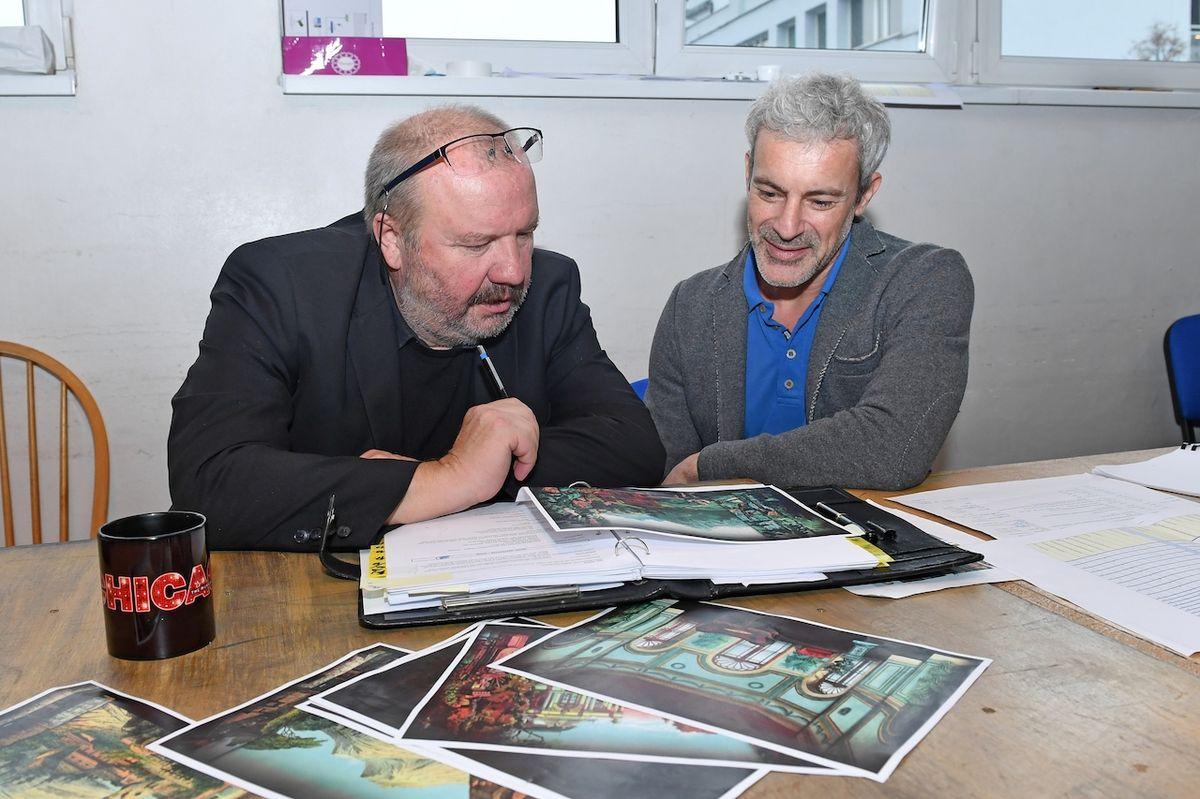 Gedeon Burkhard spolu s režisérem Stanislavem Mošou před zkouškou